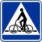 Przejazd dla rowerzystw - oznacza miejsce przeznaczone do przejazdu dla rowerzystw w poprzek drogi